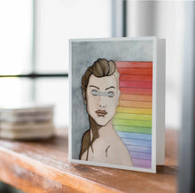 Load image into Gallery viewer, Unseen Rainbows -Pride Inspired Art Print - Handmade Note Card