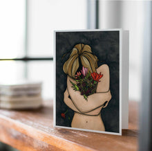 Load image into Gallery viewer, In Darkness Bloom - Mental Health Inspired Watercolor Art Print - Handmade Note Card