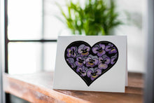 Load image into Gallery viewer, Pansy Valentine -  Floral Watercolor Art Print - Handmade Note Card