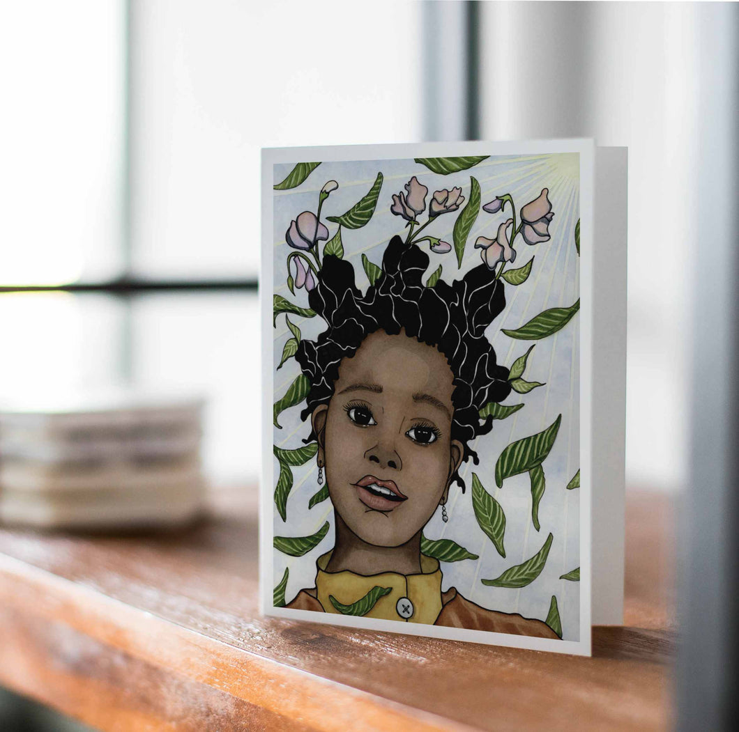 Rampant Growth - Personal Growth Inspired Watercolor Print - Handmade Note Card