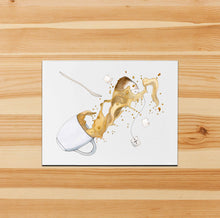 Load image into Gallery viewer, Spill the Tea - Mishap  Inspired Watercolor Print - Handmade Note Card