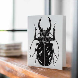 Beetle Jewel - Entomology Inspired Handmade Note Card - Note Card