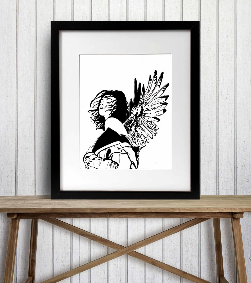 Unfurled - Strong Woman Inspired Ink Drawing - Art Print