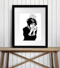 Load image into Gallery viewer, But First, Coffee - Caffeine Inspired Ink Drawing - Art Print