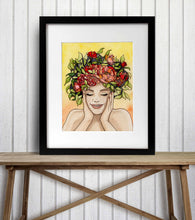 Load image into Gallery viewer, Giddy - Springtime Inspired Watercolor Painting - Art Print