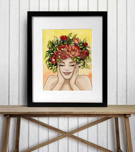 Giddy - Springtime Inspired Watercolor Painting - Art Print