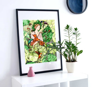Bloom - Fairy Inspired Watercolor Painting - Art Print