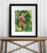 Load image into Gallery viewer, Bloom - Fairy Inspired Watercolor Painting - Art Print