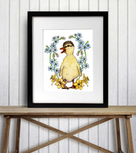 Load image into Gallery viewer, Just Ducky - Springtime Inspired Watercolor Painting - Art Print