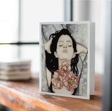 Load image into Gallery viewer, Speak Up - Feminist Inspired Watercolor - Handmade Note Card