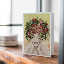 Load image into Gallery viewer, Giddy - Springtime Inspired Watercolor - Handmade Note Card