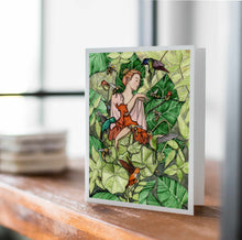 Load image into Gallery viewer, Bloom - Fairy Inspired Watercolor - Handmade Note Card