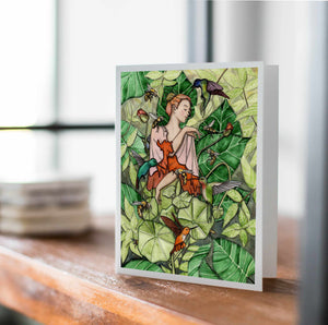 Bloom - Fairy Inspired Watercolor - Handmade Note Card