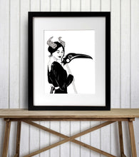Load image into Gallery viewer, Madame Reaper - Fantasy Inspired Watercolor Painting - Art Print