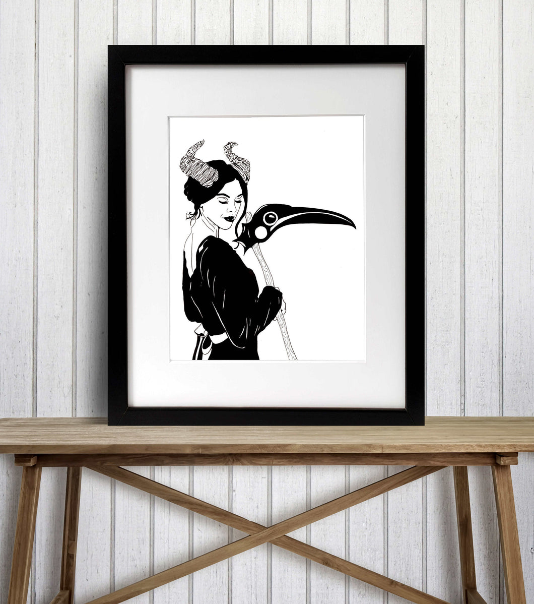 Madame Reaper - Fantasy Inspired Watercolor Painting - Art Print