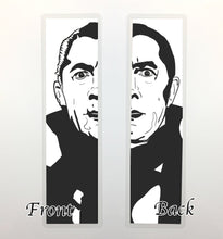 Load image into Gallery viewer, Dracula, 2-Sided Bookmark - Classic Horror Inspired Ink Drawing Art Print