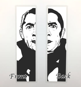 Dracula, 2-Sided Bookmark - Classic Horror Inspired Ink Drawing Art Print