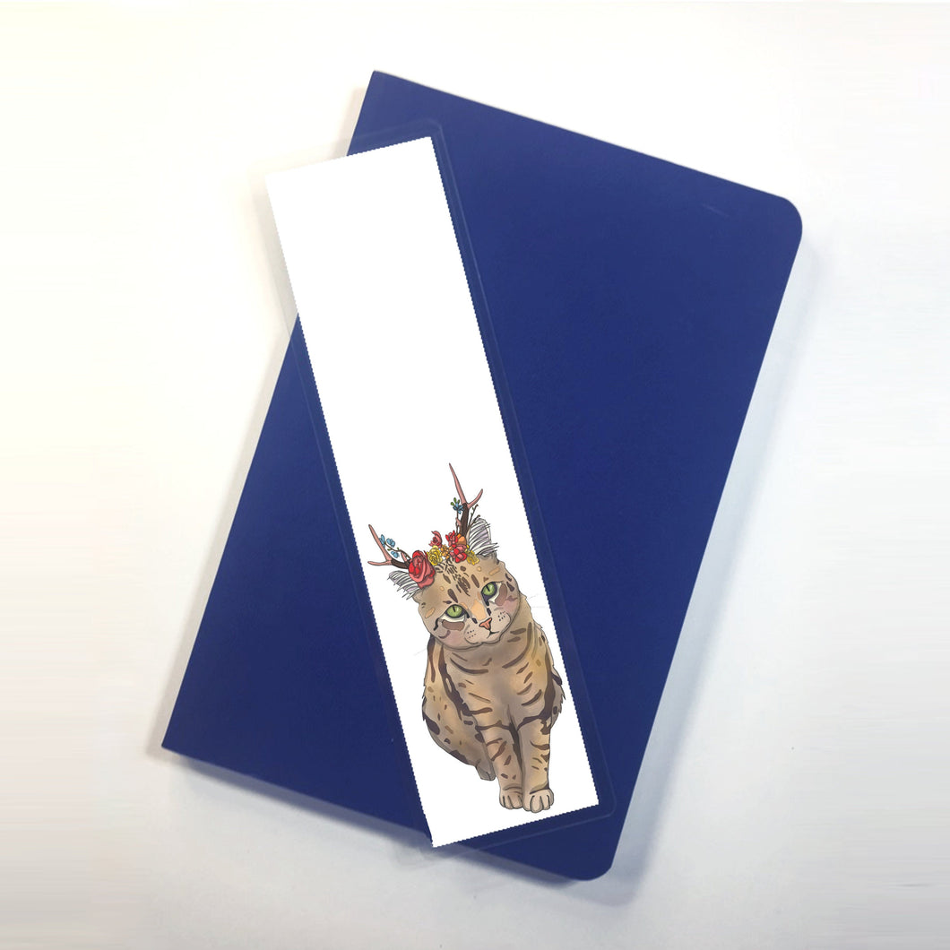 Jackalope, 2-Sided Bookmark - Cat Inspired Digital Painting Art Print