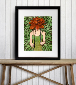 Bonnet - Fairy Inspired Watercolor Painting - Art Print