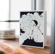 Load image into Gallery viewer, Wolf Pack - Friendship Inspired Digital Ink Drawing - Handmade Note Card