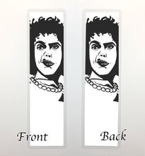 Load image into Gallery viewer, Dr. Frank-N-Furter, 2-Sided Bookmark - Classic Horror Inspired Ink Drawing Art Print