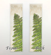 Load image into Gallery viewer, Fern, 2-Sided Bookmark - PNW Inspired Watercolor Painting Art Print