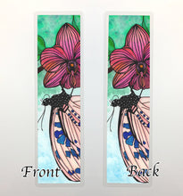 Load image into Gallery viewer, Spotted Butterfly, 2-Sided Bookmark - Nature Inspired Watercolor Painting Art Print
