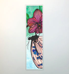 Spotted Butterfly, 2-Sided Bookmark - Nature Inspired Watercolor Painting Art Print