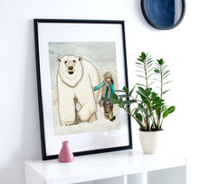 Load image into Gallery viewer, Cool Friends - Polar Bear Inspired Watercolor Painting - Art Print