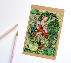 Bloom, Fairy Inspired Notebook / Sketchbook / Journal