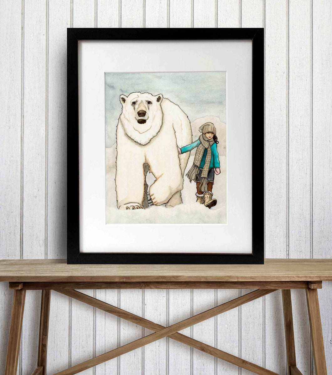 Cool Friends - Polar Bear Inspired Watercolor Painting - Art Print