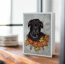 Load image into Gallery viewer, Big Buddy - Black Lab Inspired Watercolor Print - Handmade Note Card