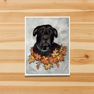 Big Buddy - Black Lab Inspired Watercolor Print - Handmade Note Card