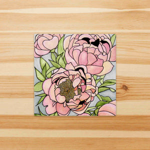 Floral Carpet - Flower Inspired Watercolor Painting - Square Sticker