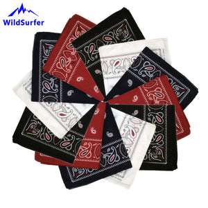 WildSurfer Headwear Cashew Bandanas Cotton Headwear Women Scarves Headband Men Mask Braga Cuello Hiking Scarves Bandanna FJ13
