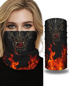 Skull Girl Cartoon Animal Print Face Bandana Magic Scarf Headwrap Balaclava