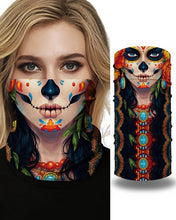 Load image into Gallery viewer, Skull Girl Cartoon Animal Print Face Bandana Magic Scarf Headwrap Balaclava