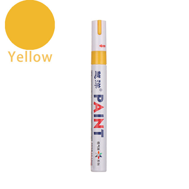 Permanent Car Tyre Tire Metal Paint Mark Colours Pen Oil Based Marker Waterproof DIY 12 Colors Painting Pen Writing On Ceramic