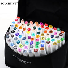 Load image into Gallery viewer, TouchFIVE Art Markers Sets Alcohol Ink 30/40/60/80/168 Colors Anime Student Design Sketch Manga Alcohol Marker Pen for Drawing