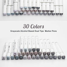 Load image into Gallery viewer, TouchNew Art Marker Double-Ended Alcohol Based Ink Neutral Gray Color Sketch Gray Tones for Graphic Drawing