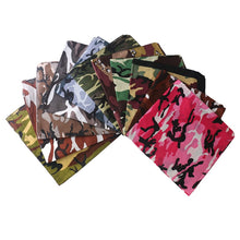 Load image into Gallery viewer, HUOBAO Camouflage Bandanas For Men Square Scarf Headband Camping Mask Hiking Wrist Wrap Band For Women/Mens