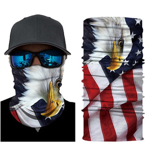 USA National Flag Seamless Sport Scarf Color Bicycle Fishing Motorcycle Ski Headwear Canadian Flag Neck Bandanas Hiking Mask