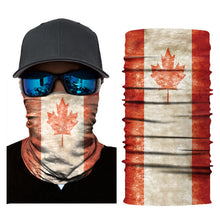 Load image into Gallery viewer, Outdoor Fishing Cycling Scarves National Flag Mask Camouflage Mask Seamless Bandanas for Festival Halloween Sports Neck Gaiter