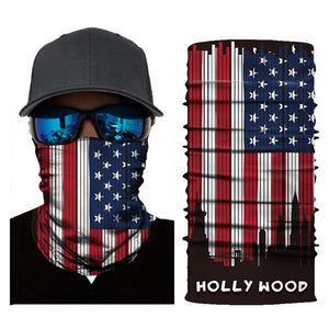 Outdoor Fishing Cycling Scarves National Flag Mask Camouflage Mask Seamless Bandanas for Festival Halloween Sports Neck Gaiter