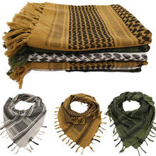 Load image into Gallery viewer, Hiking Airsoft Shooting Accessories Tactical Keffiyeh Shemagh Desert Arab Scarf Hunting Army Military Shawl Neck Cover Head Wrap