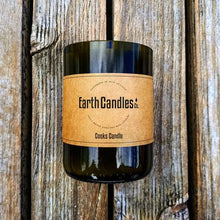 Load image into Gallery viewer, Eco-Friendly Soy Wax Candles - in Up-Cycled Wine Bottle
