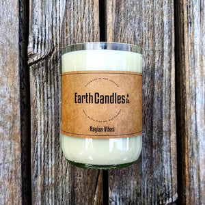 Eco-Friendly Soy Wax Candles - in Up-Cycled Wine Bottle