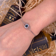 Tichi 'Evil Eye' - White Gold Bracelet