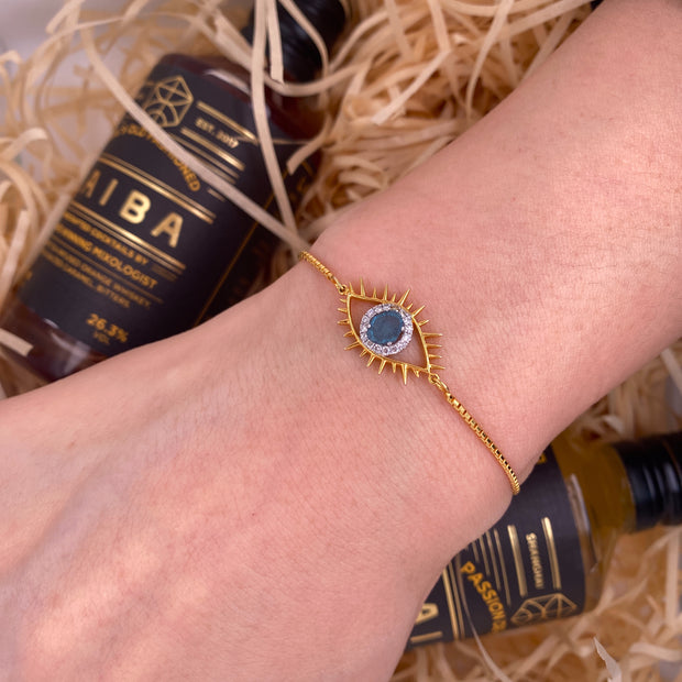 Tichi 'Evil Eye'  - Yellow Gold Bracelet