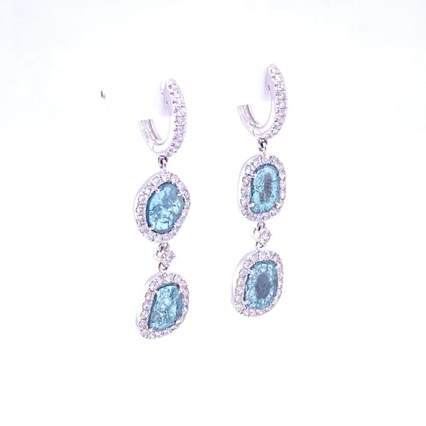 Karen Deux Bleu Earrings